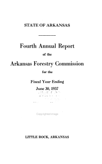Annual Report of the Arkansas Forestry Commission for the Fiscal Year Ending