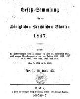 Gesetz Sammlung f  r die K  niglich Preu  ischen Staaten PDF