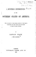 A Hunter s Experiences in the Southern States of America PDF