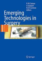 Emerging Technologies in Surgery PDF