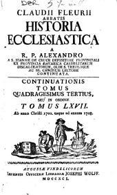 Claudii Fleurii ... Historia Ecclesiastica