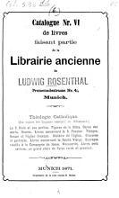 Kataloge von Ludwig Rosenthal s Antiquariat PDF