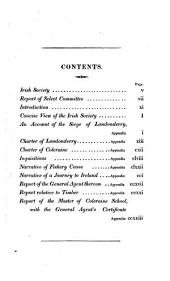 A concise view of the origin, constitution and proceedings of the Honorable Society of the governor and assistants of London: of the New Plantation in Ulster, within the realm of Ireland, commonly called the Irish Society