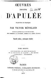 Oeuvres complètes d'Apulée: Volume2