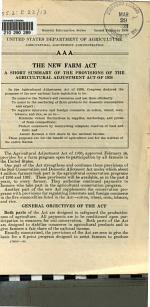 The New Farm Act, G-83