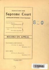 Supreme Court Appellate Division Fourth Dept. Vol. 2055