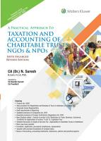 A Practical Approach to Taxation and Accounting of Charitable Trusts  NGOs   NPOs PDF