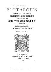 Plutarch's Lives of the Noble Grecians and Romans: Volume 3