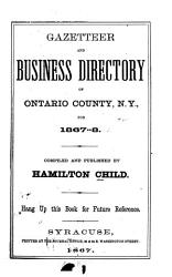 Gazetteer And Business Directory Of Ontario County N Y For 1867 8 Book PDF