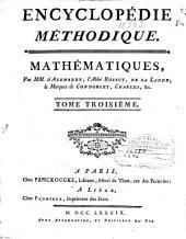 Encyclopédie méthodique: Mathématiques, Volume3