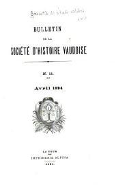 Bollettino della società di studi valdesi: Numéros11à14