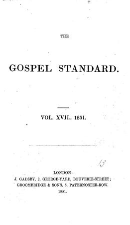 The Gospel standard  or Feeble Christian s support PDF