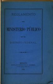 Reglamento del ministerio público en el Distrito Federal