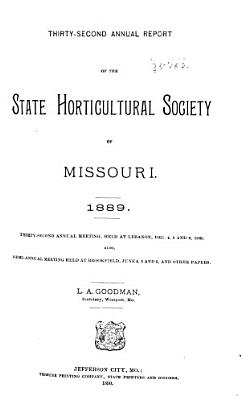 Annual Report of the State Horticultural Society of Missouri PDF