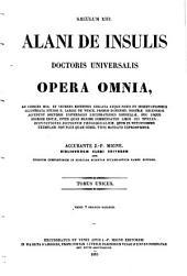 Alani de Insulis doctoris universalis opera omnia