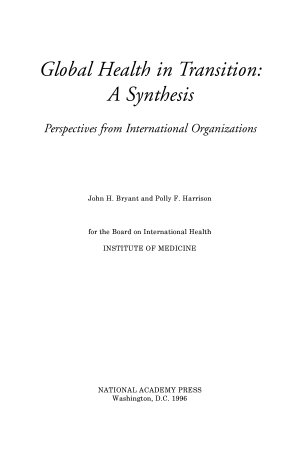 Global Health in Transition  A Synthesis PDF