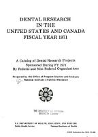 National Institute of Dental Research Programs PDF