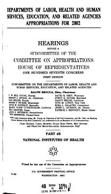 Departments of Labor  Health and Human Services  Education  and Related Agencies Appropriations for 2002 PDF