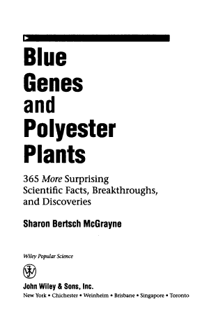 Blue Genes and Polyester Plants