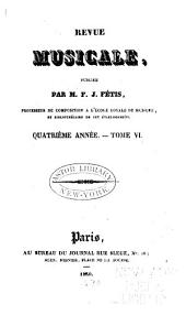 Revue musicale: Volume6