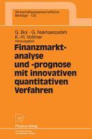 Finanzmarktanalyse und  prognose mit innovativen quantitativen Verfahren PDF