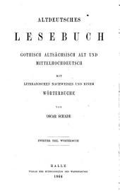 Altdeutsches Wörterbuch: II