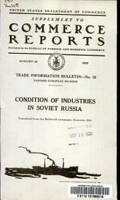 Condition of industries in Soviet Russia