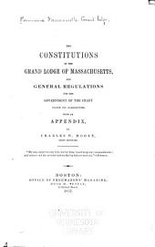 The Constitutions of the Grand Lodge of Massachusetts