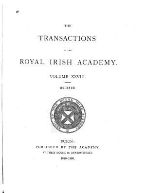 The Transactions of the Royal Irish Academy PDF