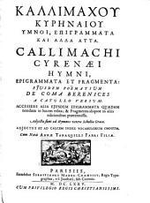 Hymnoi, epigrammata kai alla atta: Eiusdem poëmaticum De coma Berenices a Catullo versum