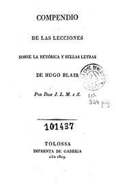 Compendio de las lecciones sobre la retórica y bellas letras de Hugo Blair
