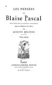 Les pensées de Blaise Pascal: Volume1