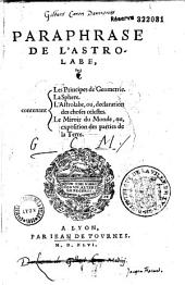 Paraphrase de l'astrolabe...