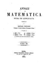 Annali Di Matematica Pura Ed Applicata: Volume 7