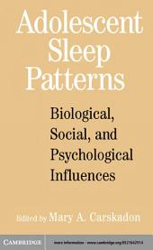 Adolescent Sleep Patterns: Biological, Social, and Psychological Influences