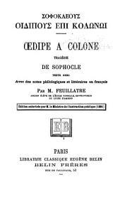 Oedipe a Colone: tragédie de Sophocle