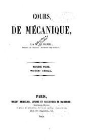 Cours de mécanique: Volume2
