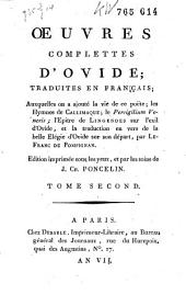 Œuvres complettes d'Ovide: Volume 2