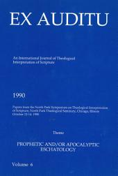 Ex Auditu - Volume 06: An International Journal for the Theological Interpretation of Scripture