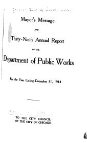 Annual Report: Volume 39