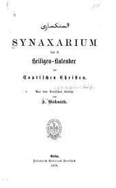 Synaxarium: das ist Heligen-kalender der Coptischen Christen
