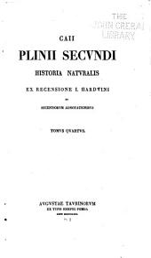 Caii Plinii Secundi Historia naturalis: Volume 4