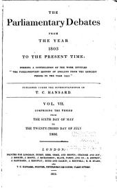 The Parliamentary Debates from the Year 1803 to the Present Time: Volume 7