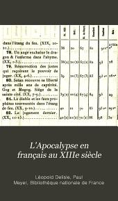 L'Apocalypse en français au XIIIe siècle: (Bibl. nat. fr. 403)