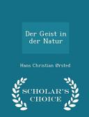 Der Geist in Der Natur   Scholar s Choice Edition PDF