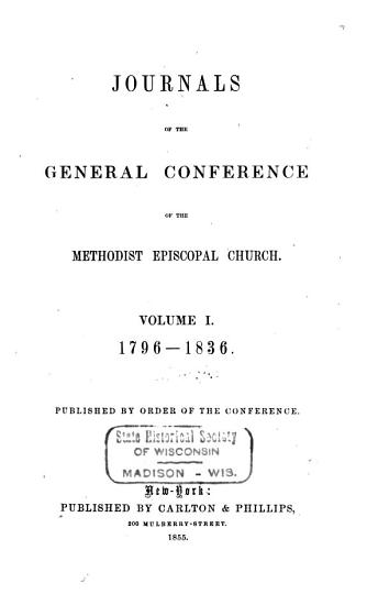 Journals of the General Conference of the Methodist Episcopal Church PDF