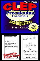 CLEP Precalculus Test Prep Review--Exambusters Flash Cards: CLEP Exam Study Guide