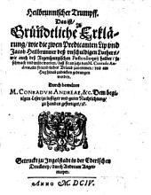 Heilbrunnischer Trumpff: Antwort auf die Abfertigung der zwey Praedicanten, Philipp und Jacob Heilbrunner