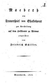 Macbeth: ein Trauerspiel