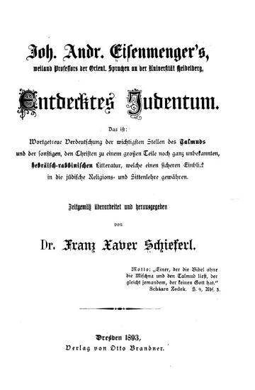 Entdecktes Judentum  das ist PDF